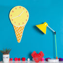 Ice Cream Glow In The Dark Kids Clock