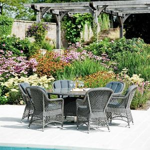 Monte Carlo Round Dining Set Six Or Eight Seater - garden furniture