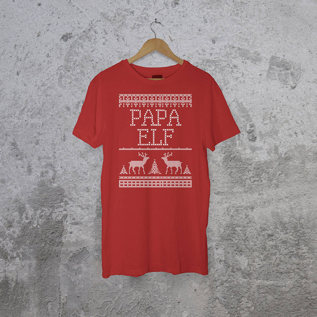 personalised family christmas t shirts by instajunction ...