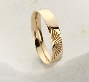 Slim Gold Sunrise Ring