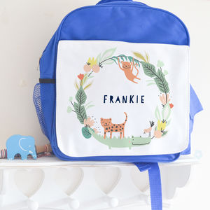 Personalised Unisex School Bag ' Jungle '