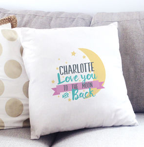 Love You To The Stars And Back Name Cushion Cover - valentine's gifts for her