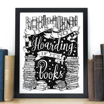 Book Lovers Typography Screen Print