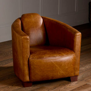 Vintage Leather Armchair - furniture