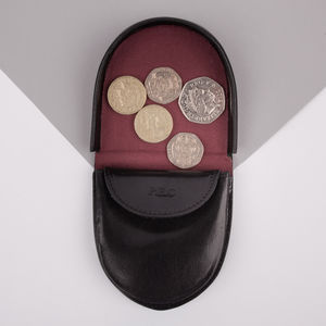 Personalised Leather Coin/Tray Wallet.' The Savino' - cufflink boxes & coin trays