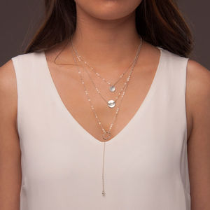 Sterling Silver Layered Necklace Set - necklaces & pendants