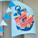 Personalised Anchor Birthday Sail Boat Card