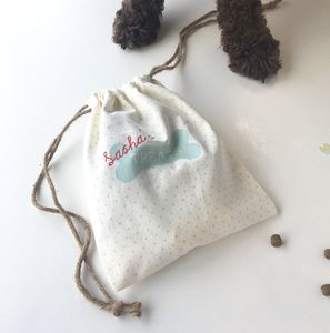Personalised Dog Treat Bag - food, feeding & treats
