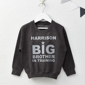 Boys Personalised Big Brother Sweatshirt Jumper