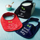 Set Of Three Christmas Bibs