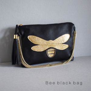 Insect Leather Bag - clutch bags