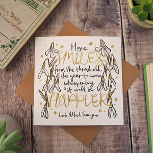 Literary Quote New Year Card - cards & wrap