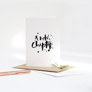 'A New Chapter' Card - leaving cards