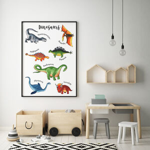 Dinosaurs Print For Nursery Or Playroom