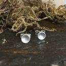 Tiny Silver Domed Studs