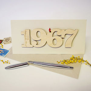Personalised 50th Birthday 1967 Motif Card - birthday cards