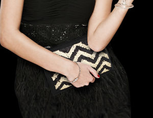 Sequin And Leather Clutch Bag - accessories