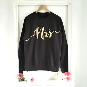 'Mrs Sweatshirt' Wedding Gift - hen party styling