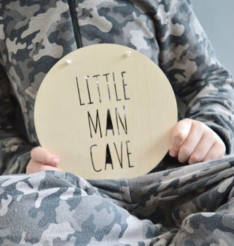 Little Man Cave Door Sign Or Wall Hanging