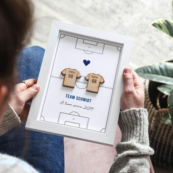 Football Shirts On Pitch Couples Print