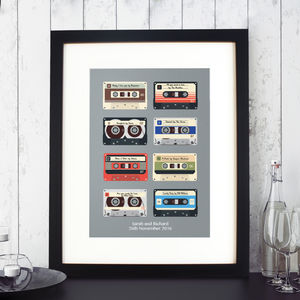 Personalised Memory Tapes Print - music