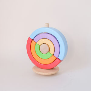 Wooden Rainbow Stacking Circle