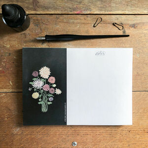 Dahlia Flowers A5 Notepad