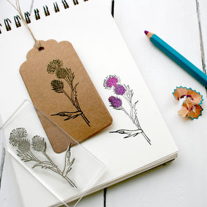Thistle Wild Flower Clear Rubber Stamp - shop by category