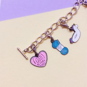 Foods Before Dudes Enamel Heart Charm - charm jewellery