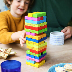 Personalised Coloured Family Stacking Tower Game