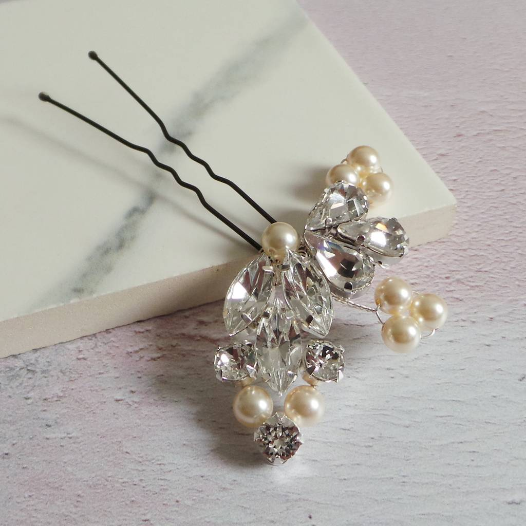 8d0e344ae goddess pearl and diamante leaf hair pin by jewellery made by me ...
