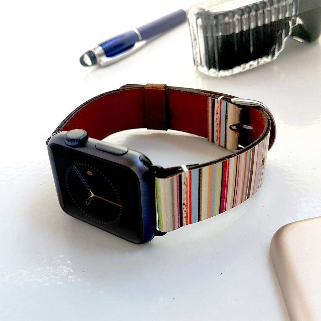 Paul Smith Style Leather Apple Watch Band 38mm, 42mm