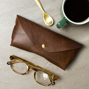 7ffdc996ef Personalised Leather Glasses Case - gifts for him