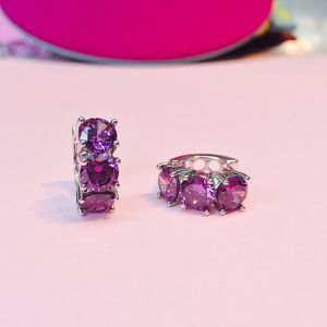 Amethyst Earrings Hoop Earrings - more