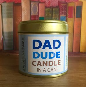 Personalised Candle In A Can For Dad