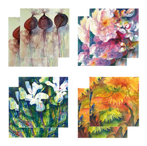Eight Fine Art Watercolour Gift Cards Pack D - birthday cards