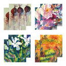 Eight Fine Art Watercolour Gift Cards Pack D