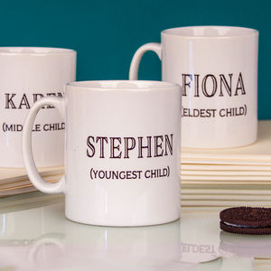 'The Rules' Personalised Sibling Mug - kitchen