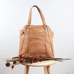 Chelsea Leather Slip Pocket Tote