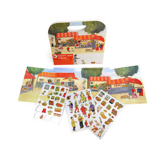 Childs Magnetic Cars And Market Stall Play Scene Toys