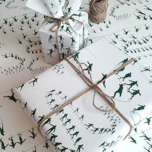 Skating Seasonal Christmas Wrapping Paper