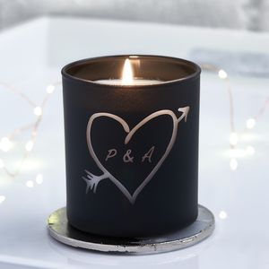 Carved Heart Personalised Candle - wedding gifts