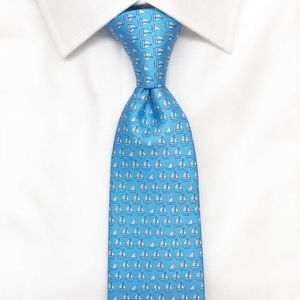 Mens Boats And Sharks Tie - ties & tie clips