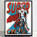 Super Cyclist Bicycle Bike Poster Print