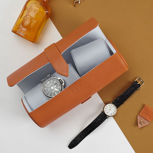 Leather Watch Roll For Travel - storage & organisers