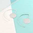 Disk Sterling Silver Hoop Earrings