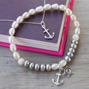 Stay Anchored Freshwater Pearl Bracelet