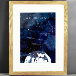Personalised Universe New Born Print - nature & landscape
