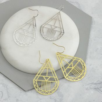 Ava Laser Cut Aztec Earrings