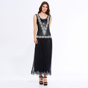 Zelda Maxi Flapper Dress - dresses